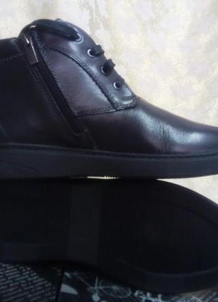 Распродажа!мужские кожаные зимние ботинки на цигейке detta 40р.
