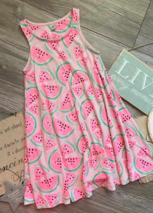 Платье сарафан в арбузики tu 6-7л