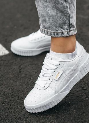 🍒puma cali white🍒женские белые демисезонные кроссовки пума кали