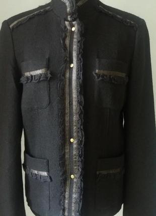 Классный шерсть удлин.жакет пиджак  френч devernois раз.40-42 ...