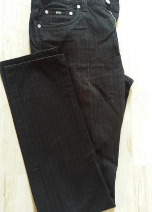 Брендовые темно-серые джинсы брюки hugo boss раз.31-32