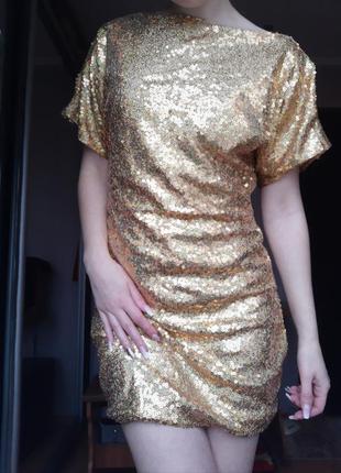 Платье пайетки блестящее