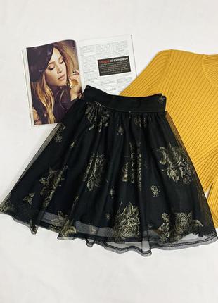 Шифоновая юбка в цветочный принт
