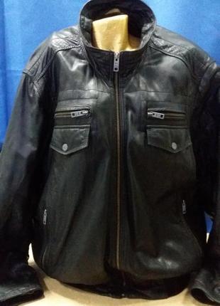 Цена дня!кожаная куртка черная  camel active большой размер ра...