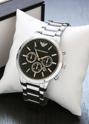 Часы Emporio Armani Silver-Black