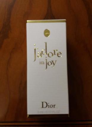 Туалетная вода christian dior j'adore in joy 5мл