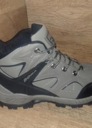 Зимние ботинки мужские bona р. 41-46 натуральный нубук