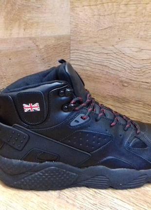 Ботинки зимние кожаные мужские demax в стиле nike р. 41 42
