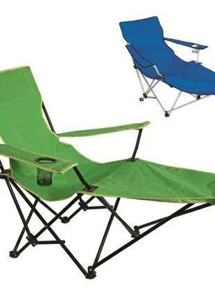 Кресло-шезлонг раскладное, пляжное, садовое 115 см