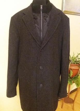 Цена дня! трендовое пальто шерсть  manguun men раз.54-56