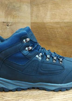 Зимние мужские из нубука на меху ботинки restime на шнуровке