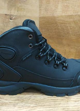 Зимние мужские ботинки из натурального нубука на меху  restime...