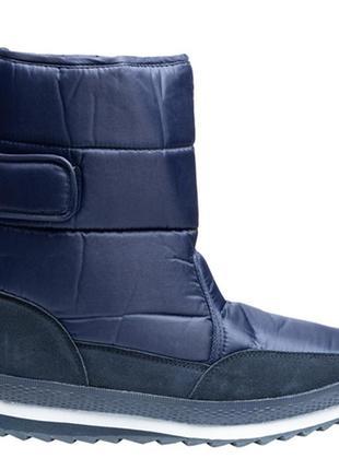 Дутики сапоги зимние мужские на утеплителе restime синие и чёр...