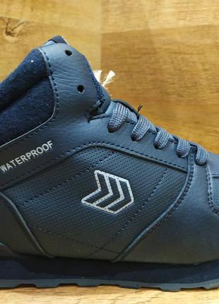 Зимние ботинки мужские кожаные restimе на меху р. 41-45 синие ...