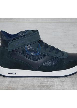 Ботинки-кроссовки зимние bona мужские кожаные р. 41-45