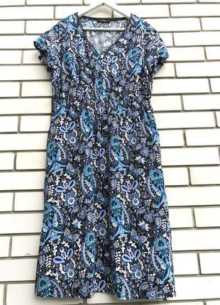 Штапельное платье,сарафан,вискоза,большого размер,батал,