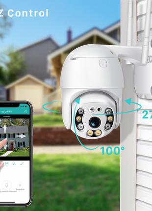 WI-FI PTZ icsee IP камера 1080P 2Mп поворотная наружная/НАЛОЖКА