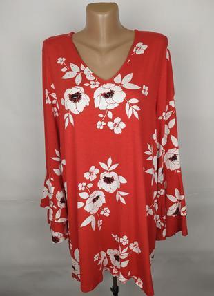 Блуза туника новая шикарная цветочная большой размер george uk...