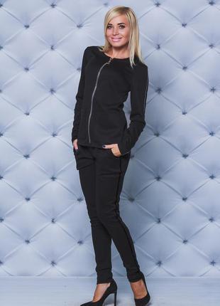 Брендовая черная куртка жакет на молнии с карманами next