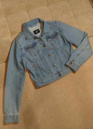 Джинсовая куртка new look ,рост 152-158см, 12-13лет