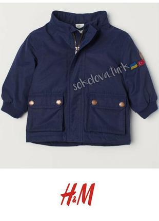 Утепленная парка куртка курточка деми для мальчика 92 см от h&m