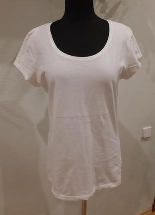 Базовая белая футболка от h&m раз.38-40