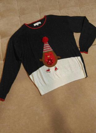 Новогодний свитер next размер 12