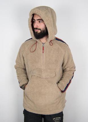 Флисовая bershka плюшевая кофта худи куртка флис с лампасами