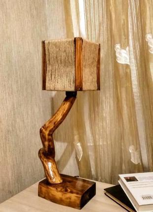 Настольная лампа в стиле Еко / светильник / авторская работа