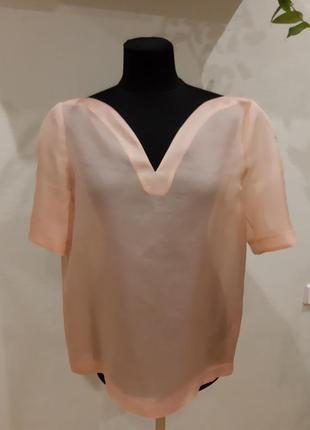 Шикарная блуза футболка новая оверсайз шелк other stories раз....