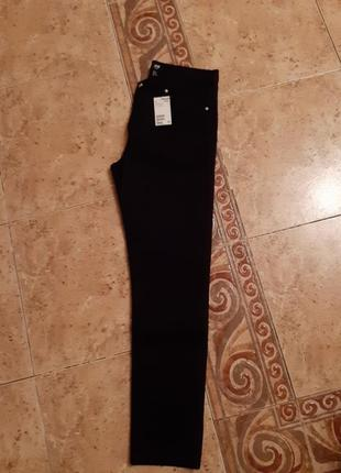 Новые джинсы стрейч черные высокая посадка h&m раз.31-xl