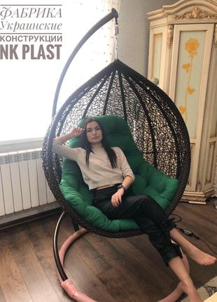 Кресло-кокон подвесное плетёное Веста. Доставка - 50%