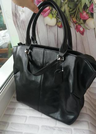 Женская кожаная сумка из натуральной кожи жіноча шкіряна велика