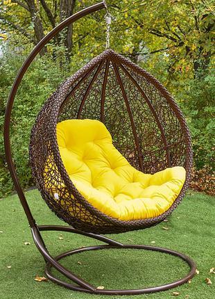 Кресло кокон подвесное Веста. Качеля из ротанга. Гамак садовый