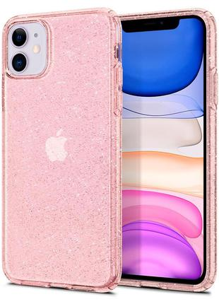 Чехол Spigen Liquid Crystal Glitter для iPhone 11  Rose Quartz