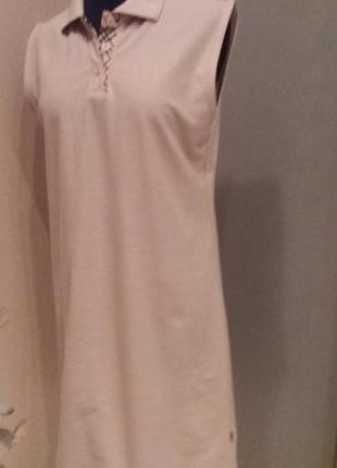 Платье св.беж в стиле burberry трикотаж новое elisa immagine р...