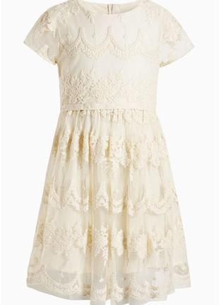Next платье  нарядное кружевное 10-12 лет