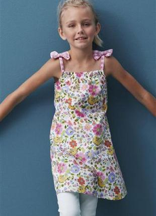 Next ситцевое платье- сарафан 11 лет