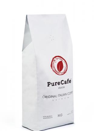 Кофе PureCafe Ricco, зерно, 60% Арабики/40% Робусты, Италия, 1кг