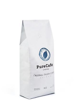 Кофе PureCafe Crema, зерно 70% Арабики/30% Робусты, Италия, 1кг