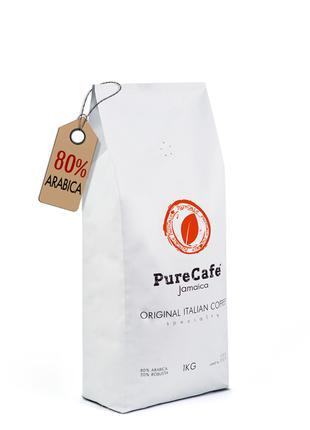 Кофе PureCafe Jamaica, зерно 80% Арабики/20% Робусты, Италия, 1кг