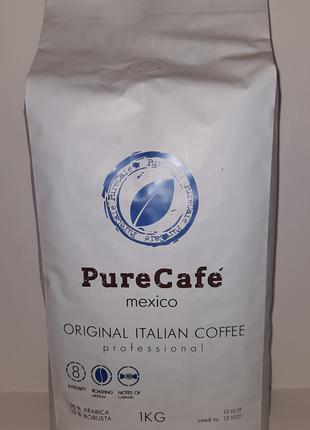 Кофе PureCafe Mexico, зерно 90% Арабики/10% Робусты, Италия, 1кг