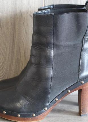 Стильные кожаные ботинки, ботильоны 40-41
