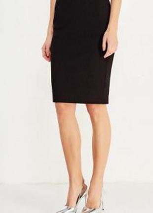 Бандажная юбка-карандаш черная от mango раз.36-38 (пот 40+)