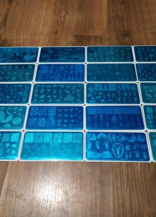 Набор 20 шт пластины для стемпинга пластина плюс холдер с подарок
