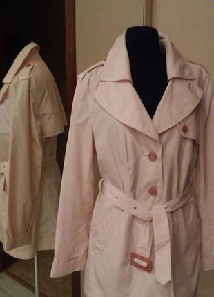 Orwell плащ куртка ветровка розово-пудрового цвета   раз.38-40