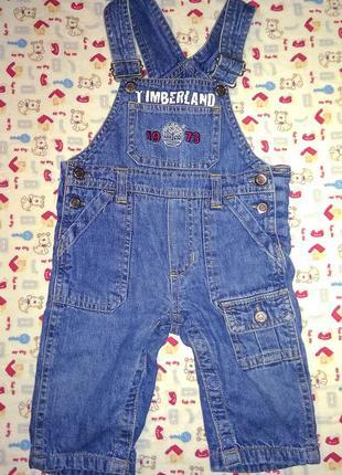 😊 джинсовий комбінезон timberland 3-6 м 👍👍👍