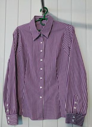 Женская рубашка в полоску большого размера jaeger англия