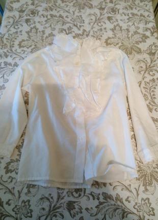 Школьная форма. блузка с длинным рукавом lady mary