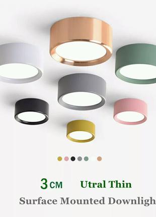 Светодиодная потолочная лампа 3W белая, цвет свечения белый 4000К